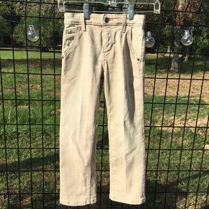 Cat & Jack Boys straight khaki denim pants Sz 6
